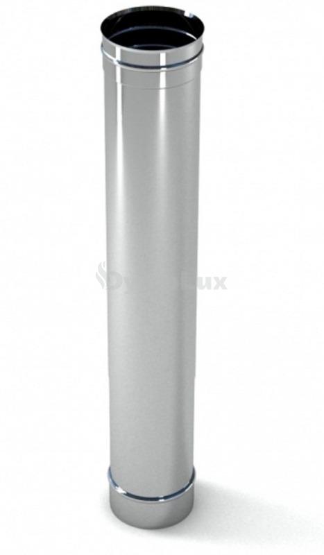 Труба димохідна з нержавіючої сталі 1 м Ø125 мм товщина 0,6 мм