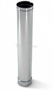 Труба димохідна з нержавіючої сталі 1 м Ø130 мм товщина 0,6 мм