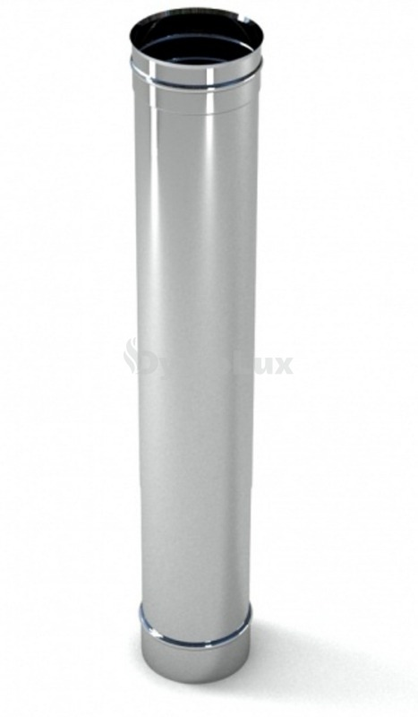 Труба димохідна з нержавіючої сталі 1 м Ø140 мм товщина 0,6 мм