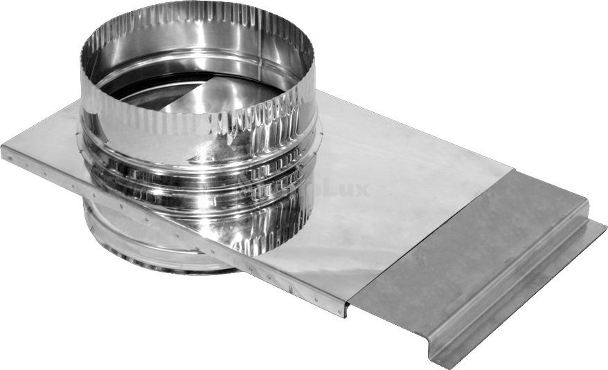 Шибер дымоходный из нержавеющей стали Ø130 мм толщина 0,6 мм