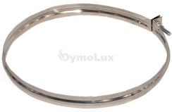 Хомут вузький для димоходу з нержавіючої сталі Ø120 мм товщина 0,6 мм