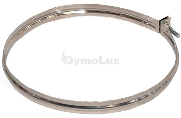 Хомут узкий для дымохода из нержавеющей стали Ø125 мм толщина 0,6 мм