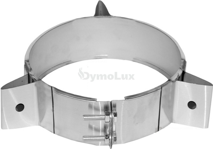 Хомут під розтяжки для димоходу з нержавіючої сталі Ø360 мм товщина 0,6 мм