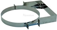 Хомут настінний для димоходу з нержавіючої сталі Ø130 мм 0 - 100 мм товщина 0,6 мм