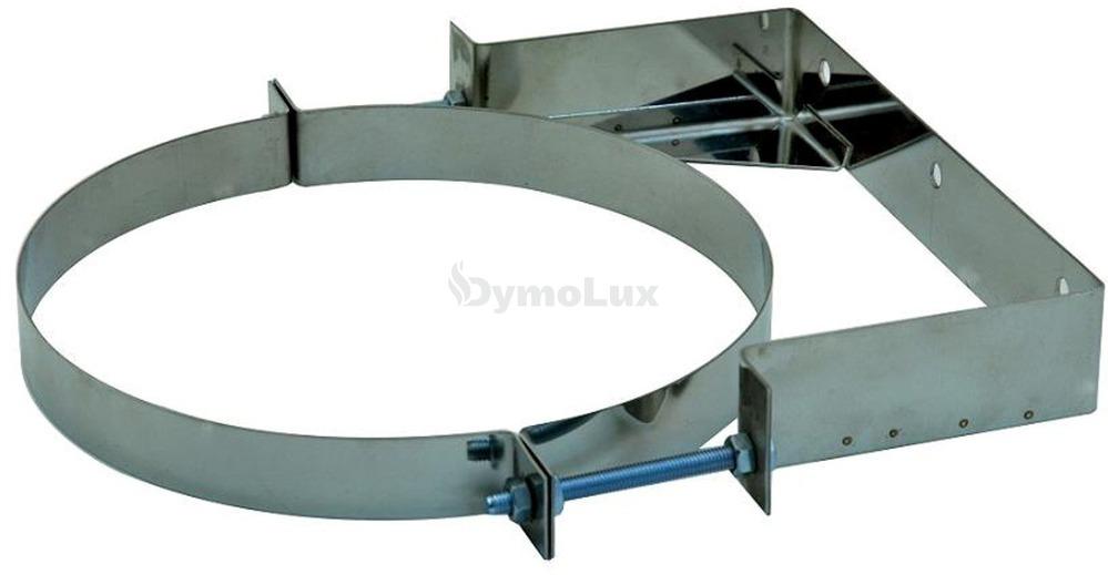 Хомут настенный для дымохода из нержавеющей стали Ø140 мм 0 - 100 мм толщина 0,6 мм