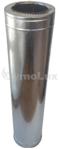 Труба димохідна двостінна нерж/оцинк 1 м Ø110/180 мм товщина 0,8 мм