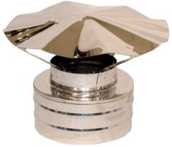 Грибок з термоізоляцією димохідний з нержавіючої сталі Ø125/200 мм товщина 0,6 мм