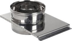 Шибер димохідний двостінний з нержавіючої сталі Ø130/200 мм товщина 0,8 мм