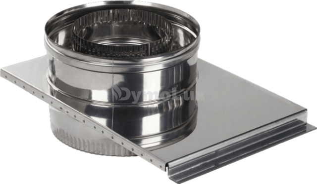 Шибер димохідний двостінний з нержавіючої сталі Ø180/250 мм товщина 0,8 мм