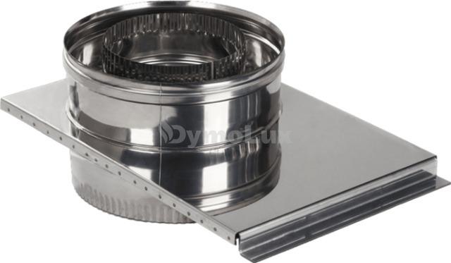 Шибер дымоходный двустенный из нержавеющей стали Ø130/200 мм толщина 1 мм