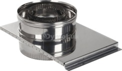 Шибер дымоходный двустенный из нержавеющей стали Ø220/280 мм толщина 1 мм