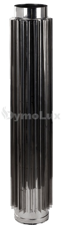 Труба-радіатор димохідна з нержавіючої сталі Ø110 мм товщина 0,8 мм