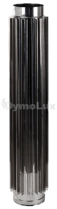 Труба-радіатор димохідна з нержавіючої сталі Ø100 мм товщина 1 мм