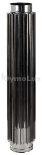 Труба-радіатор димохідна з нержавіючої сталі Ø130 мм товщина 1 мм