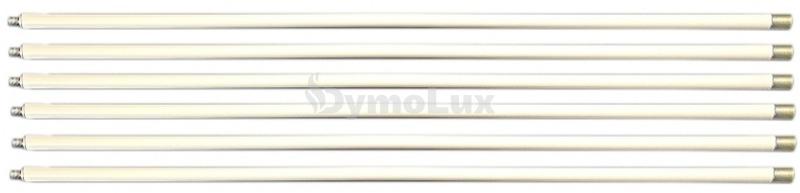 Комплект гибких ручек для щетки для чистки дымохода Hansa 1 м x 6 шт белые