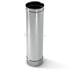 Труба димохідна з нержавіючої сталі 0,5 м Ø160 мм товщина 0,6 мм