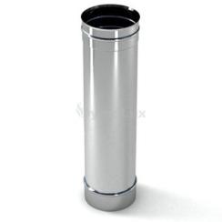 Труба димохідна з нержавіючої сталі 0,5 м Ø125 мм товщина 0,8 мм