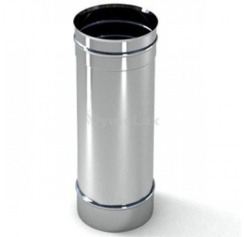 Труба димохідна з нержавіючої сталі 0,3 м Ø100 мм товщина 0,8 мм