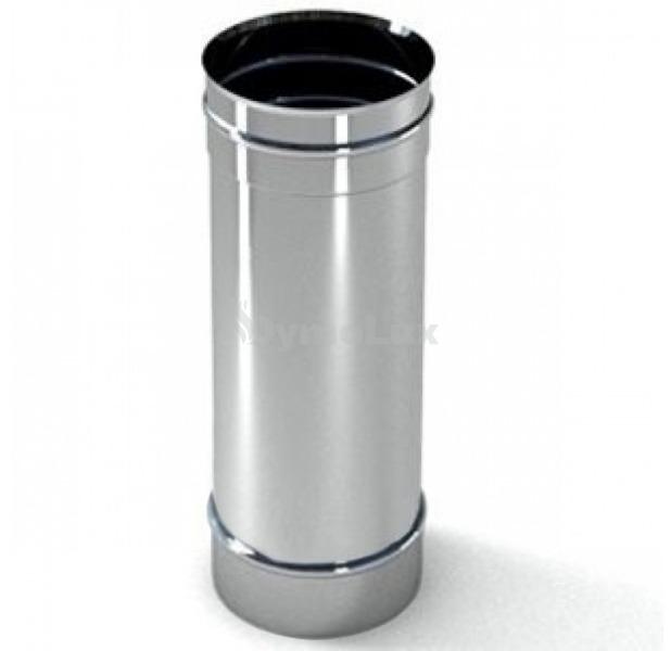 Труба димохідна з нержавіючої сталі 0,3 м Ø125 мм товщина 0,8 мм