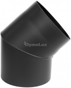 Коліно димохідне з низьколегованої сталі Версія Люкс 45° Ø200 мм товщина 2 мм