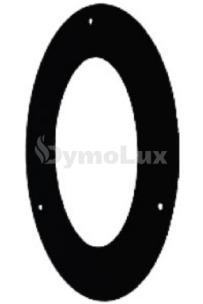 Розета овальна з низьколегованої сталі Версія Люкс 45° Ø130 мм товщина 2 мм