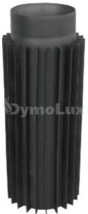 Труба-радіатор димохідна з низьколегованої сталі Версія Люкс 1 м Ø120 мм товщина 2 мм