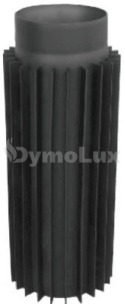 Труба-радиатор дымоходная из низколегированной стали Версия Люкс 1 м Ø130 мм толщина 2 мм