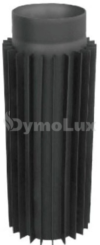 Труба-радіатор димохідна з низьколегованої сталі Версія Люкс 1 м Ø180 мм товщина 2 мм