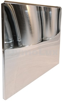Лист-відбивач з нержавіючої сталі 600х600 мм