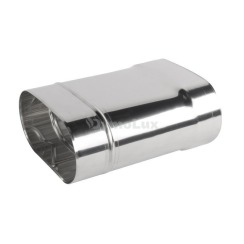 Труба димохідна овальна з нержавіючої сталі 0,3 м товщина 0,6 мм