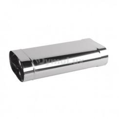 Труба димохідна овальна з нержавіючої сталі 0,5 м товщина 0,6 мм