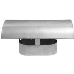 Грибок димохідний овальний з нержавіючої сталі товщина 0,6 мм