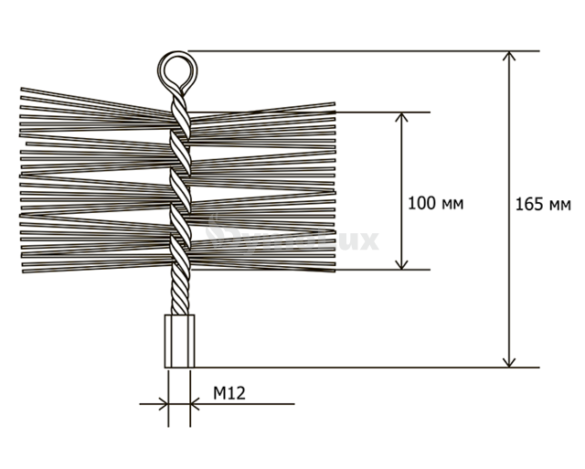 Щітка (йорж) металева для чищення димоходу Savent 120 мм. Фото 8