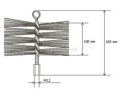 Щітка (йорж) металева для чищення димоходу Savent 200 мм. Фото 9