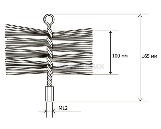 Щітка (йорж) металева для чищення димоходу Savent 250 мм. Фото 8