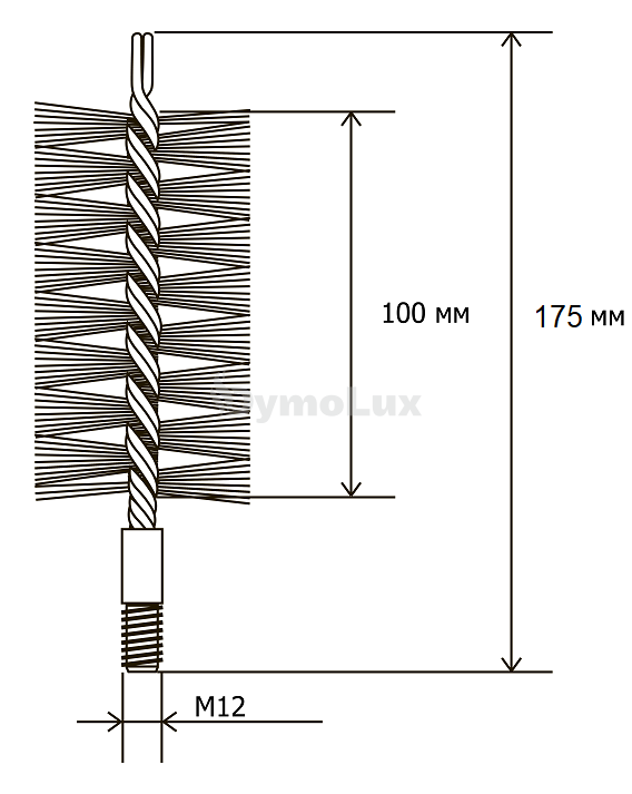 Щітка (йорж) металева для чищення теплообмінника котлів, труб Savent 40 мм. Фото 6