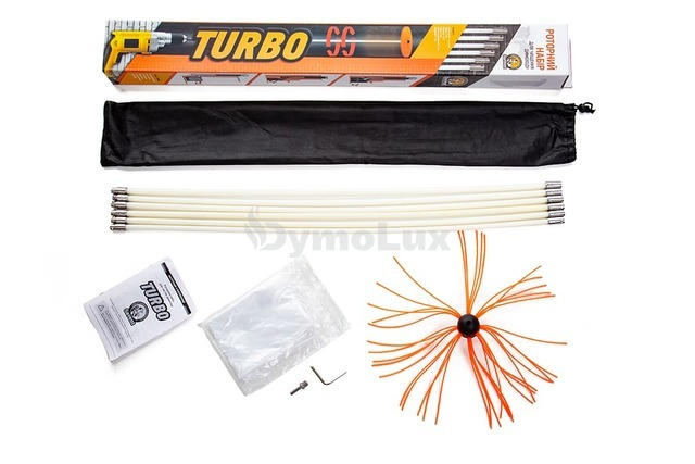 Роторний набір для чистки димоходів Savent TURBO (1 м х 8 шт)