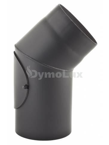 Коліно з низьколегованої сталі Darco 45° нерегульоване з ревізією Ø130 мм товщина 2 мм