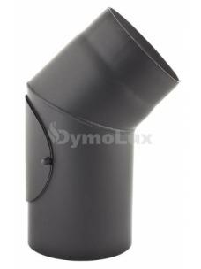 Коліно з низьколегованої сталі Darco 45° нерегульоване з ревізією Ø150 мм товщина 2 мм