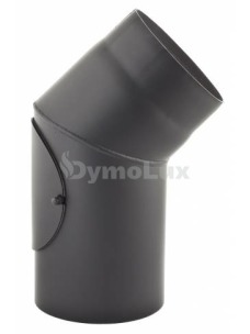 Коліно з низьколегованої сталі Darco 45° нерегульоване з ревізією Ø180 мм товщина 2 мм