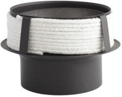 Перехідник з низьколегованої сталі Darco до керамічного димоходу Ø180/150 мм товщина 2 мм