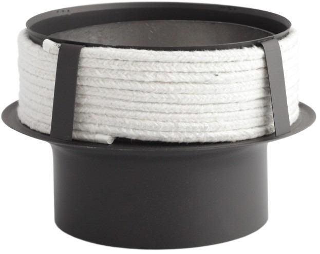 Перехідник з низьколегованої сталі Darco до керамічного димоходу Ø250/200 мм товщина 2 мм