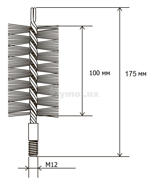 Щітка (йорж) металева для чищення теплообмінника котлів, труб Savent 60 мм. Фото 6