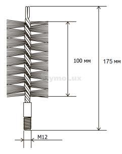 Щітка (йорж) металева для чищення теплообмінника котлів, труб Savent 70 мм. Фото 6