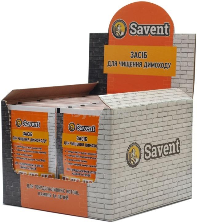 Засіб для немеханічної чистки димоходів Savent 1 кг (25 шт х 40 г)