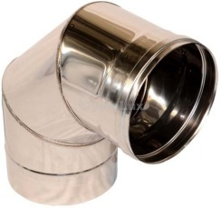 Дымоходное колено из нержавеющей стали 90° Ø300 мм толщина 0,8 мм