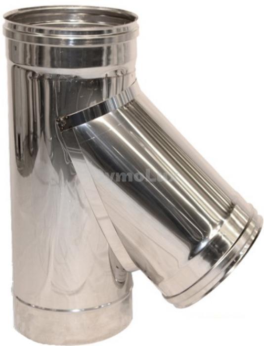 Трійник димоходу з нержавіючої сталі 45° Ø100 мм товщина 0,6 мм