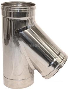Трійник димоходу з нержавіючої сталі 45° Ø100 мм товщина 0,8 мм