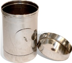 Ревізія димоходу з нержавіючої сталі Ø100 мм товщина 0,8 мм