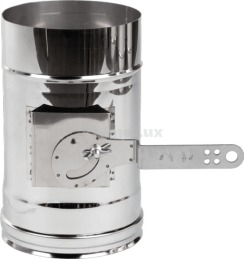 Регулятор тяги димоходу з нержавіючої сталі Ø110 мм товщина 1 мм